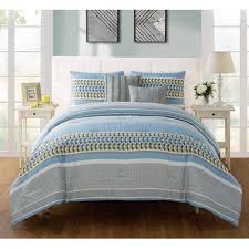 vcny home marcus geometric bedding comforter set with decorative