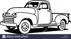 Chevy Pickup Truck - Retro Clipart Illustration Stock Vector Art ...