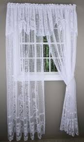 Lace Window Treatments Maragret Lace Curtain Panels With Attached Valance Discount Lace