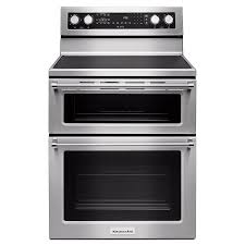 kitchenaid 30 inch 6 7 cu ft electric double oven convection range in stainless steel