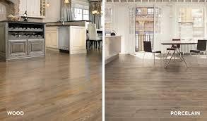 wood flooring vs wood plank porcelain flooring