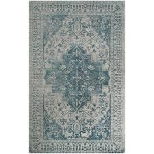 safavieh restoration vintage blue grey 4 ft x 6 ft area rug