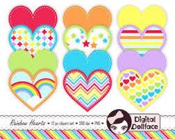 Rainbow Frame Clip Art Border Paper Digital Page Borders Etsy