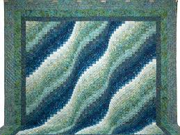 Bargello Wave Quilt -- superb adeptly made Amish Quilts from ... & ... King Ocean Spray Bargello Wave Quilt Photo 2 ... Adamdwight.com