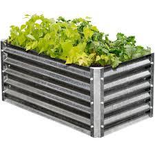 galvanized steel garden beds safe. Unique Galvanized EarthMark Alto Series 22 In X 40 17 Rectangle Galvanized On Steel Garden Beds Safe E