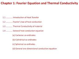 chapter 1 fourier equation and thermal conductivity