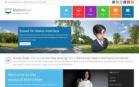 Metro Template Metroman Responsive Metro Theme Bootstrap Responsive Themes