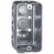 Steel <b>City 1</b>-Gang 4 in. <b>1</b>-7/<b>8</b> in. Deep Old Work Handy/Utility Box ...