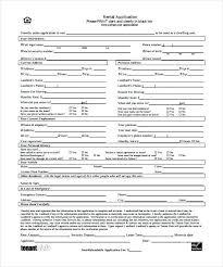 Free Rental Application Form Sample – Vuezcorp