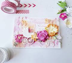 New Baby Congratulation Cards Amazon Com Handmade Paper Greeting Cards Girl New Baby
