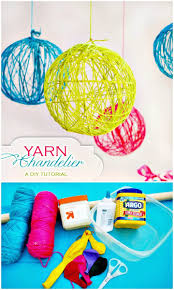 go also smartly handmade with the yarn and balloonake brilliant yarn globes that can be hanged aloft with light bulbs inside for making outstanding