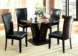 48 inch round glass top dining table 30 x with 5 chairs kitchen inspiring rou