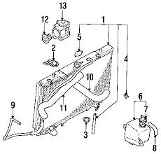 parts com® mitsubishi montero sport water pump oem parts diagrams 1997 mitsubishi montero sport xls v6 3 0 liter gas water pump