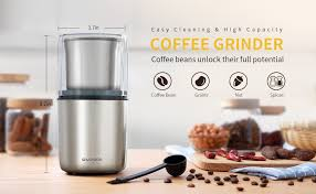 Blade coffee grinder shardor coffee grinder has a sleek and elegant appearance, as well as practical feature. Amazon Com Shardor Electric Coffee Bean Grinder Spice Grinder 1 Removable Bowl With Stainless Steel Blade Silver Kitchen Dining