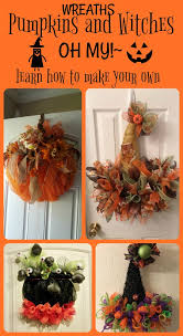 today i am sharing some dollar tree pumpkin and witches hat wreaths that are so stinkin cute i will also be leaving some awesome you tutorials