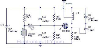 circuit zone com electronic projects electronic schematics diy fm transmitter circuit