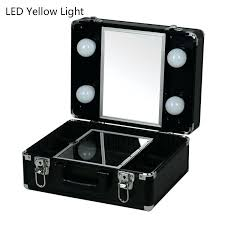 makeup case with mirror new type cosmetic box beauty case with led lights beauty kit gift set mirror storage box 2 type with yellow or white light in