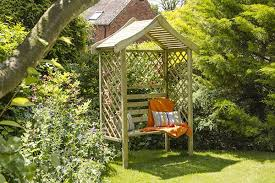 our top 10 wooden garden arbours the