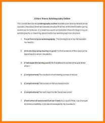 7 Autobiography Sample Format The Stuffedolive Restaurant