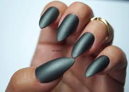 Grey Stiletto Nails, Nail designs, Nail art, Matte Nails, Acrylic ...