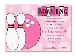 Bowling Party Invitations A Vector Illustration Of Bowling Party Invitation Template Image On