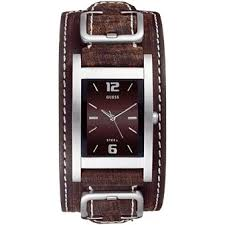 now on guess mens watches at b jeweled co uk guess men s quartz watch brown dial analogue display and brown leather strap i75540g1