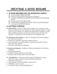 How To Build A Job Resume Resume Job