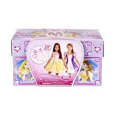 Play Doh Disney Princess Design A Dress Ballroom Disney Princess Rapunzel Belle Royal Dress Up Trunk