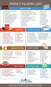 Disney Packing List Tips What To Pack For Disney World