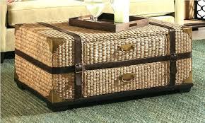 wicker chest coffee table s small trunk 5 basket white of drawers wicker chest white wash trunk hamper storage