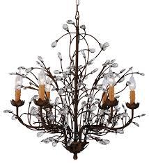 grand charlotte splendid antique bronze 6 light crystal chandelier