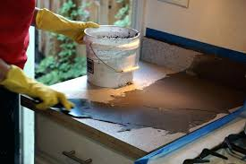 how to cover up laminate countertop applying the feather finish concrete skim coat to the laminate