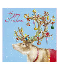 Christmas Card Picture Festive Reindeer Christmas Card Pack Of 10 Cancer Research Uk