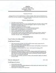 Sample Resumes For Warehouse Jobs Bunch Ideas Of Sample Resumes For