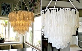 wax paper chandelier diy for