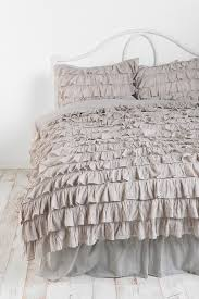 house mesmerizing grey ruffle bedding 9 quilt ideas stunning waterfall duvet cover perfect comforter sets suitable