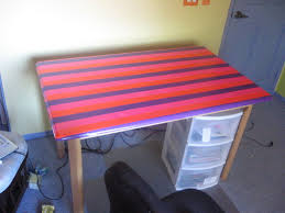 cover a plain boring desk with no other than duct tape cover desk