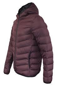 mens brave soul lightweight winter puffer jacket in burdy grey aw18