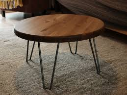 image of distressed wood coffee table round