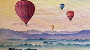 hot air balloons step by step acrylic painting tutorial live easy landscape with clouds angelooney