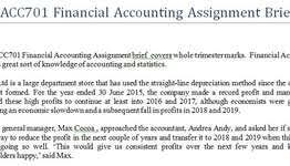 accounting and finance assignment help assignment help  acc701 financial accounting assignment brief