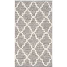 safavieh montauk 2 6 x 4 hand woven cotton rug in gray and ivory rugs carpets best canada