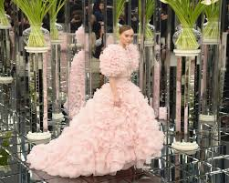 lily rose depp was a blushing bride in pink chanel couture wedding