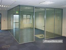 double glazed frameless glass office with integral venetian blinds halo door frame glass door lever lock