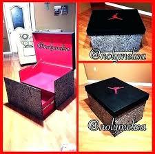 nt shoe box storage for custom color college theme nike uk giant custom over sized shoe box storage nike