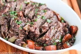 slow cooker red wine pot roast recipe