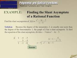 example finding the slant asymptote of a rational function