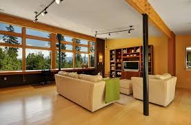 media room lighting ideas. family media room ideas modern with warm tones yellow walls lighting