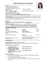 Resume File Format Sample Resume Letters Job Application