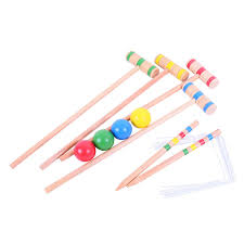picture of wooden croquet set